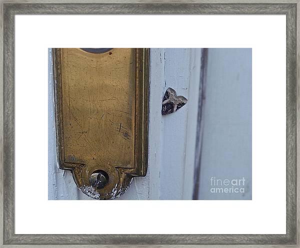 Arrowhead Doorbell Moth Framed Print