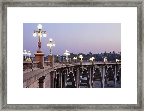 Arroyo Seco Bridge Pasadena Framed Print