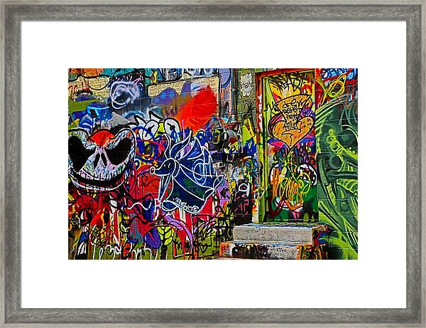 Art Alley Three Framed Print