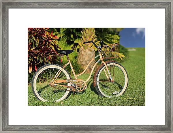 Art Bike Framed Print