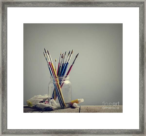 Art Brushes Framed Print