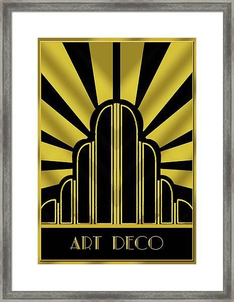 Art Deco Poster - Title Framed Print