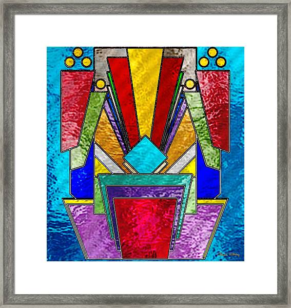 Art Deco - Stained Glass 6 Framed Print