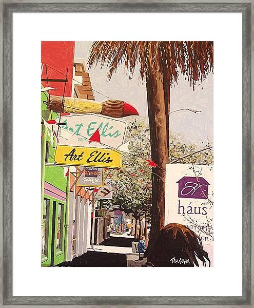 Art Ellis In Midtown Framed Print by Paul Guyer