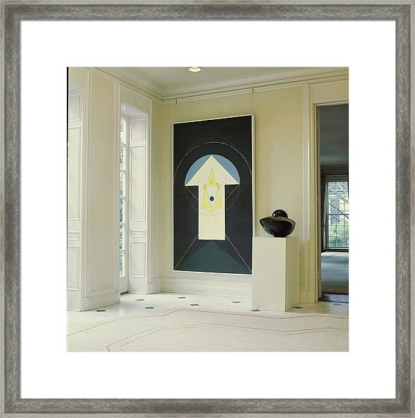 Art In John D. Murchison's Hallway Framed Print by Horst P. Horst