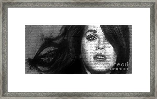 Art In The News 37- Katy Perry Framed Print