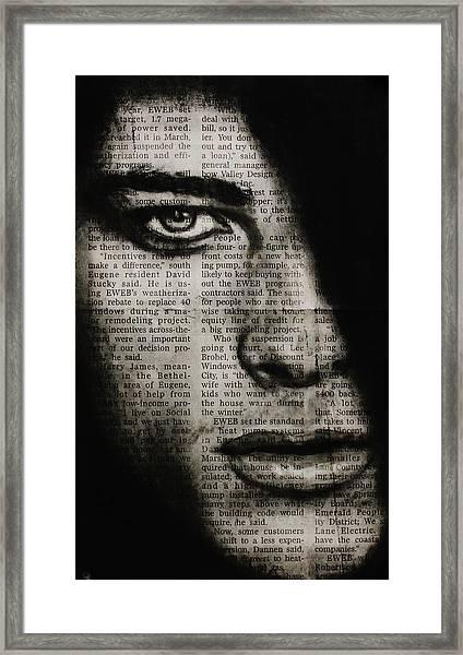 Art In The News 7 Framed Print