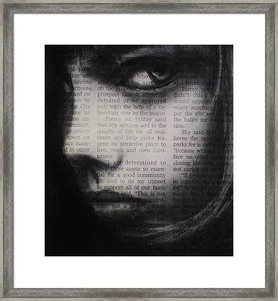 Art In The News 9 Framed Print