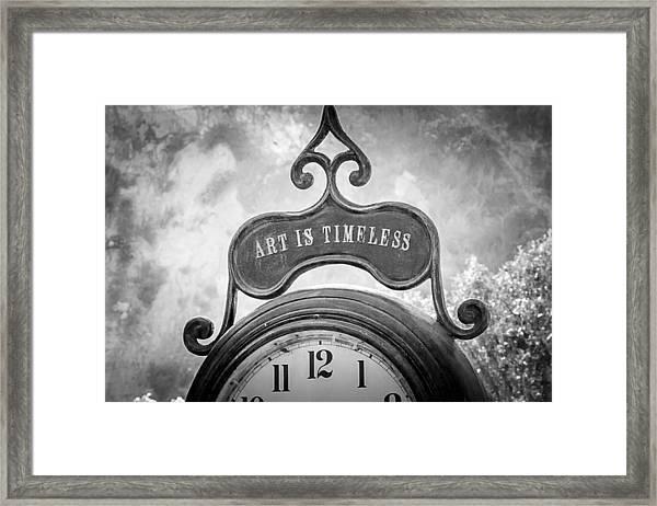 Art Is Timeless Framed Print