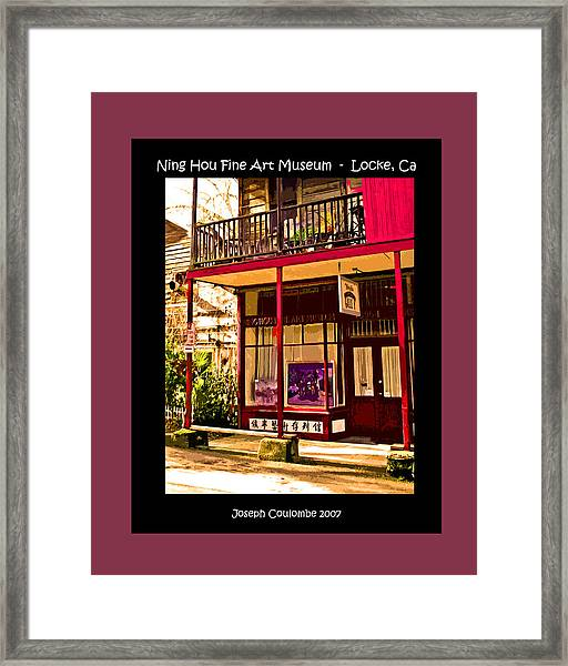 Art On River Road Locke Ca Framed Print