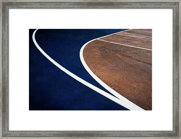 Art On The Basketball Court  11 Framed Print
