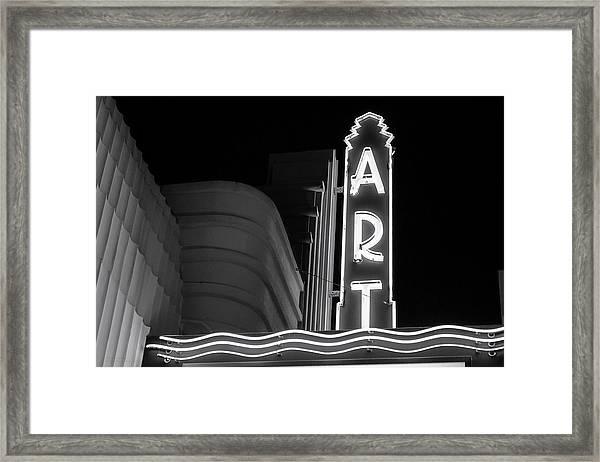 Art Theatre Long Beach Denise Dube Framed Print