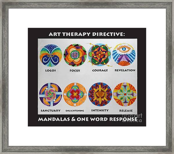 Art Therapy Directive Mandala Framed Print