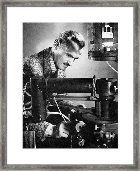 Arthur Compton Framed Print by Steven Deutch, Courtesy Aip Emilio Segre Visual Archives