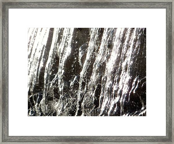 Artificial Waterfall Framed Print