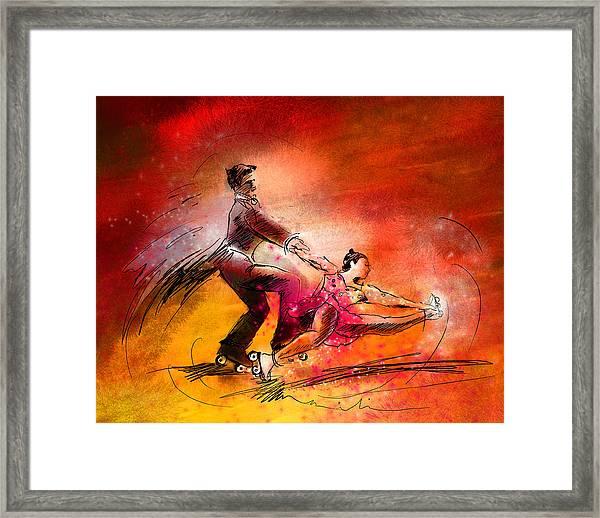 Artistic Roller Skating 02 Framed Print