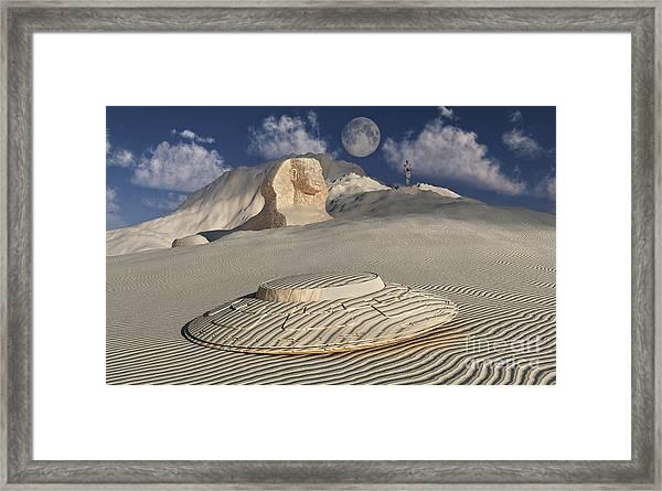 Artists Concept Illustrating How Aliens Framed Print