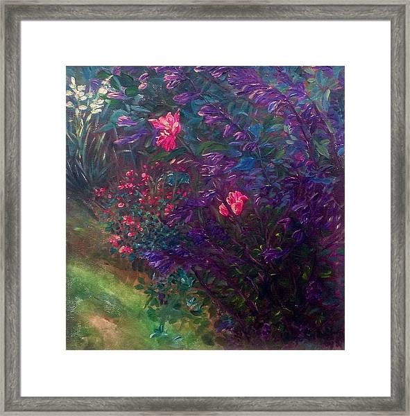 Artist's Garden In Spring I Framed Print