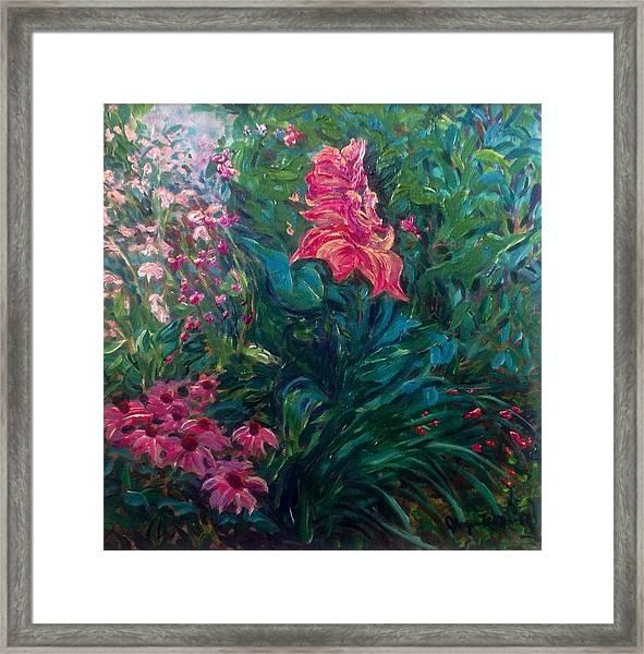 The Artist's Garden In Spring II Framed Print