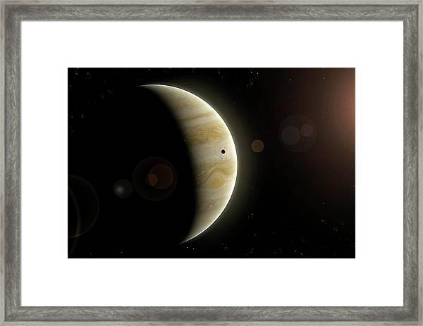 Artwork Of Io And Jupiter Framed Print
