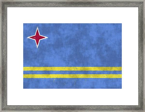 Aruba Flag Framed Print