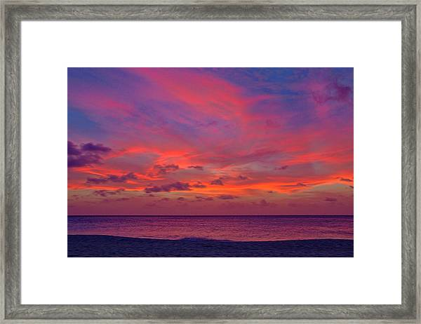 Aruba Sunset Framed Print