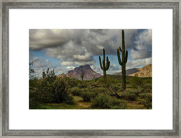As The Clouds Pass By  Framed Print
