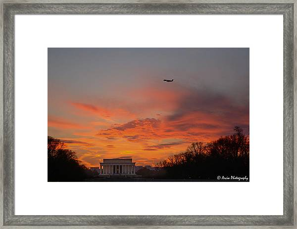 Ascencion Over Abraham Framed Print