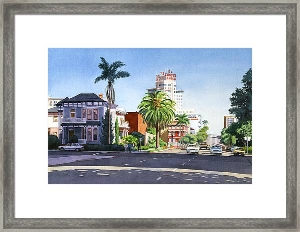 Ash And Second Avenue In San Diego Framed Print