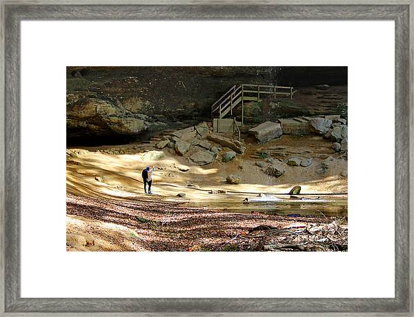 Ash Cave In Hocking Hills Framed Print
