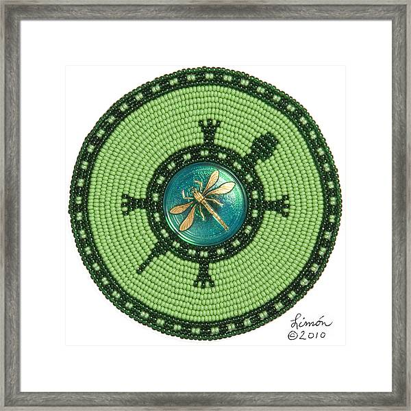 Ashlee's Dragonfly Turtle Framed Print