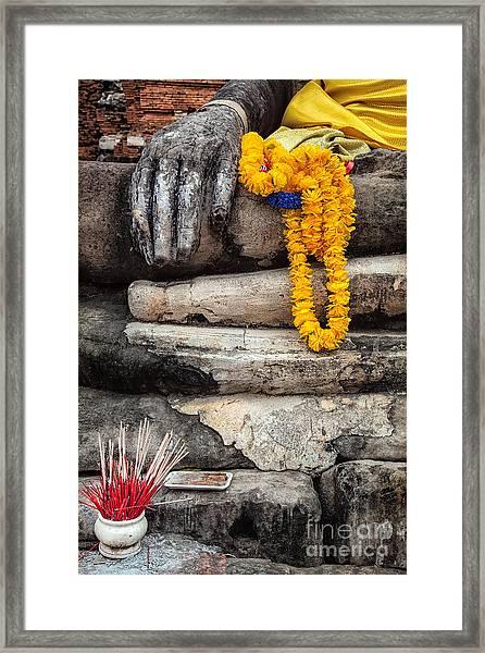 Asian Buddhism Framed Print