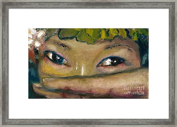 Asian Eyes Framed Print