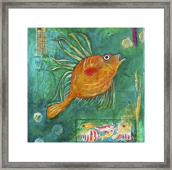 Asian Fish Framed Print