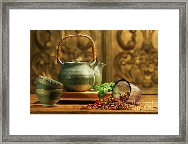 Asian Herb Tea Framed Print