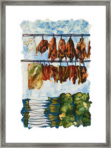 Asian Market Framed Print by Tess Stone