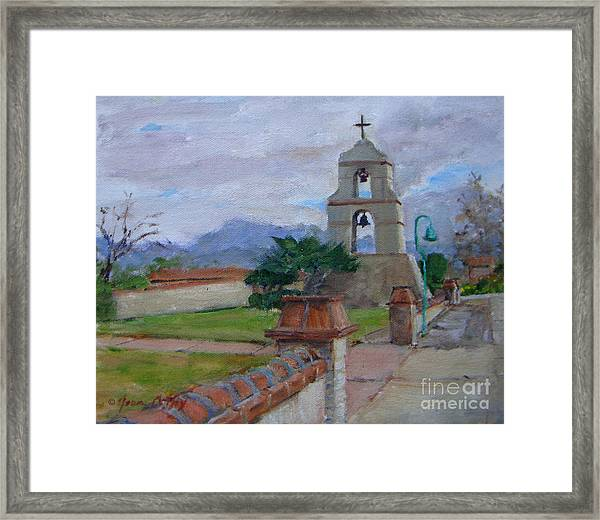 Asistencia On A Cloudy Day Framed Print