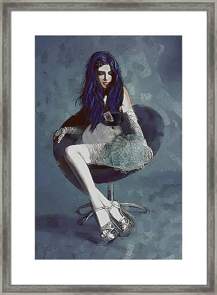 Ask Alice Framed Print