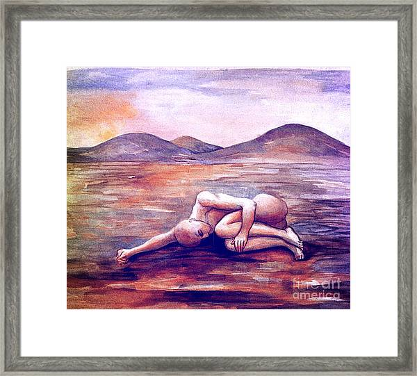 Asleep On The Plain  Framed Print