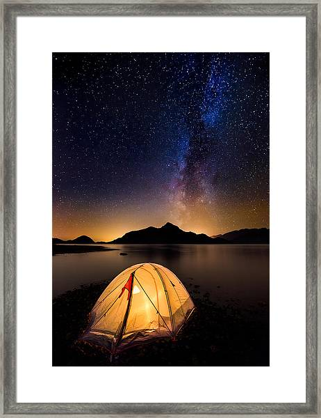 Asleep Under The Milky Way Framed Print