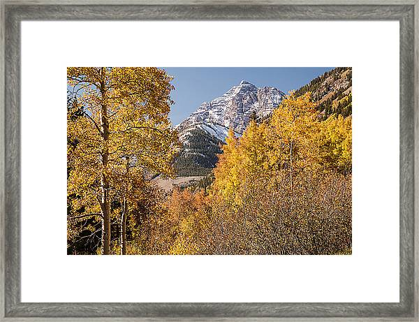 Aspen And Mountains 5 Framed Print
