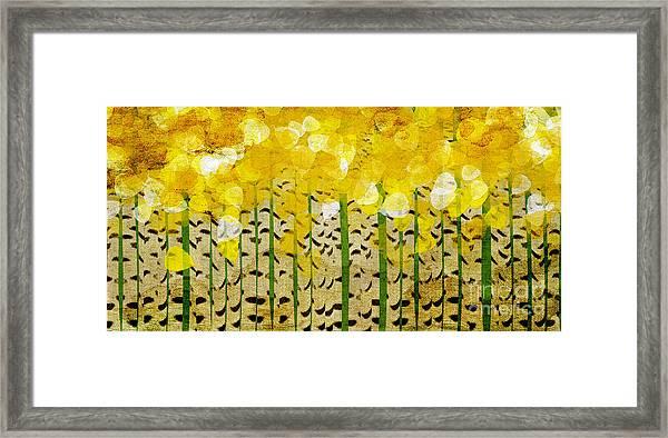 Aspen Colorado Abstract Panorama Framed Print