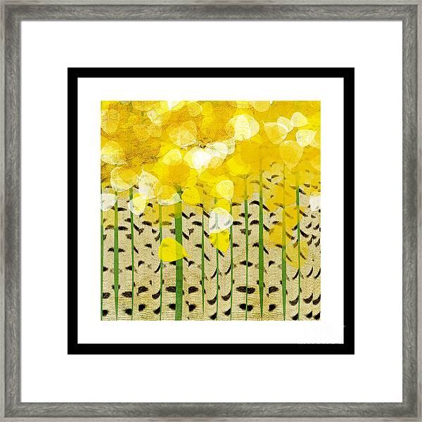 Aspen Colorado Abstract Square Framed Print