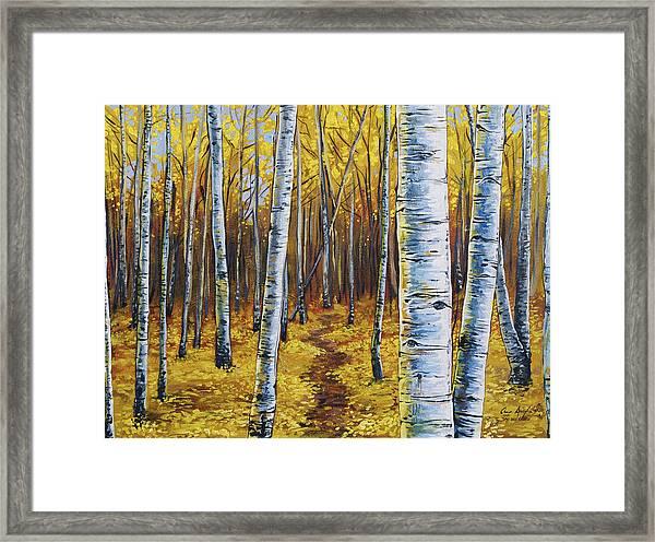 Aspen Trail Framed Print