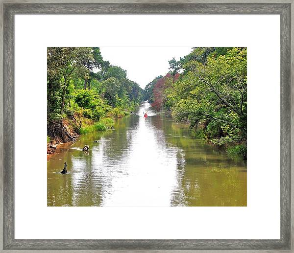 Assawoman Canal - Delaware Framed Print