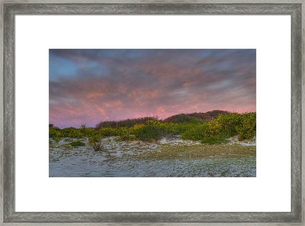 Asseteague Island Dune Sunrise Framed Print