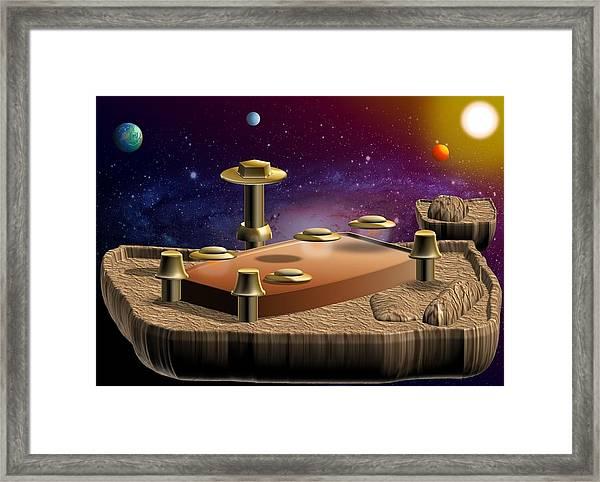 Asteroid Terminal Framed Print