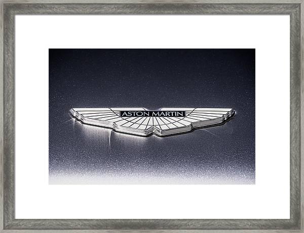 Aston Martin Badge Framed Print