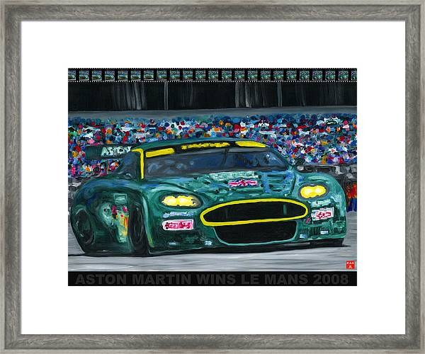 Aston Martin Wins Le Mans 2008 Pop Framed Print