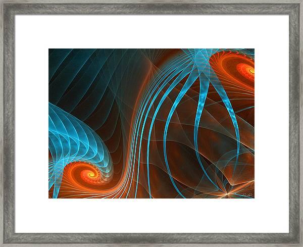 Astonished-fractal Art Framed Print